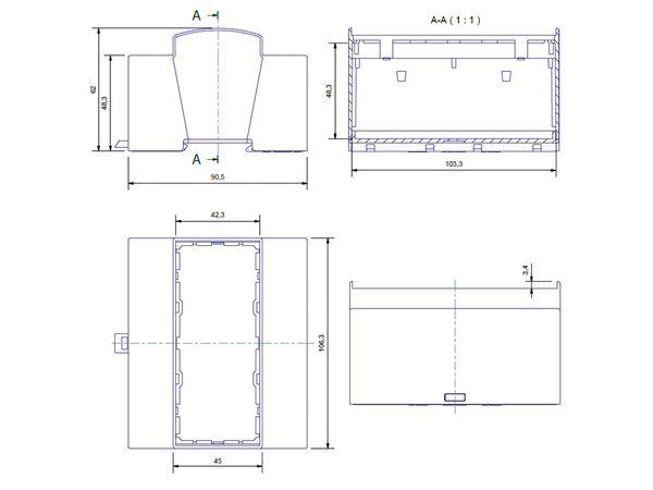 Hutschienen-Gehäuse für Raspberry Pi Model B+, 6TE - Produktbild 6