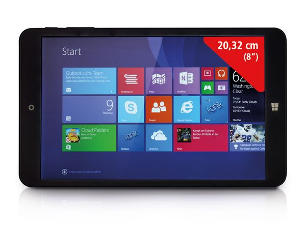 "Tablet-PC IONIK TW 8"", Windows 8.1, schwarz - Produktbild 1"