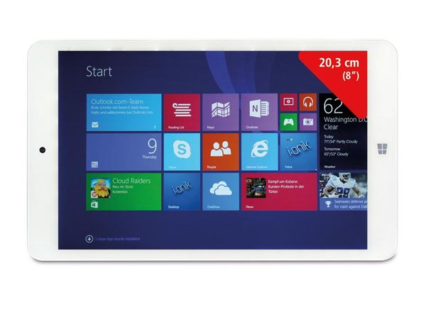 "Tablet-PC IONIK TW 8"", Windows 8.1, weiß - Produktbild 1"