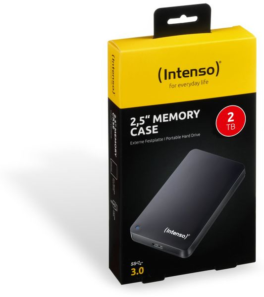 USB 3.0-HDD INTENSO Memory Case, 2 TB, schwarz - Produktbild 2