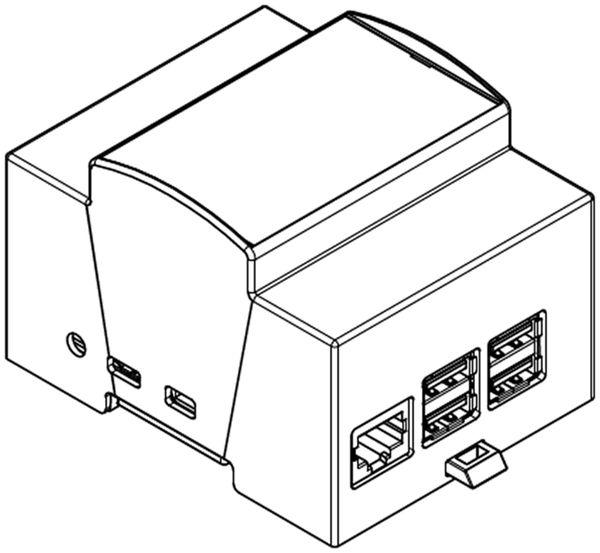 Hutschienen-Gehäuse für ODROID-C1, 4TE - Produktbild 2