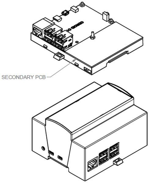 Hutschienen-Gehäuse für ODROID-C1, 6TE - Produktbild 2