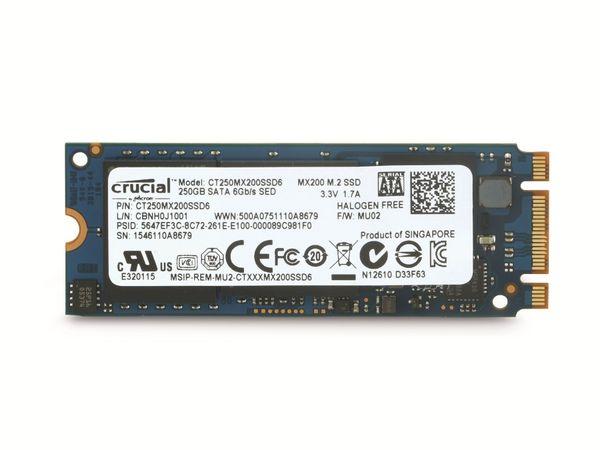 M.2-SSD CRUCIAL MX200 CT250MX200SSD6, 250 GB