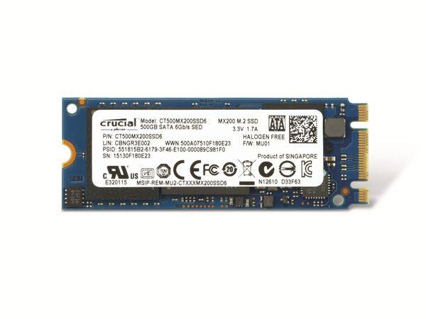 M.2-SSD CRUCIAL MX200 CT500MX200SSD6, 500 GB - Produktbild 1