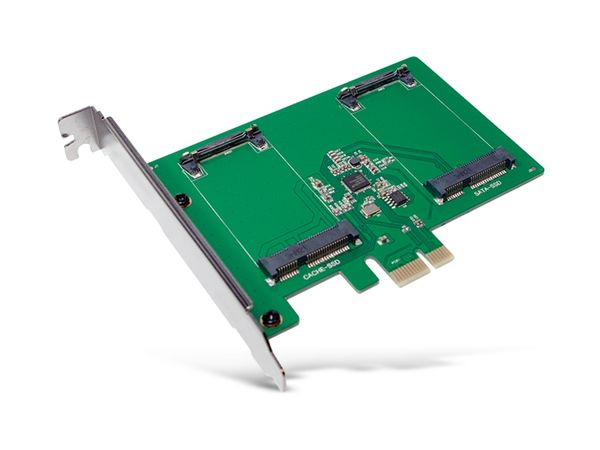 SATA-Controllerkarte LOGILINK PC0078, PCIe, 2x mSATA SDD