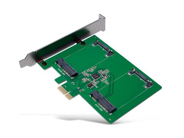 SATA-Controllerkarte LOGILINK PC0078, PCIe, 2x mSATA SDD - Produktbild 2