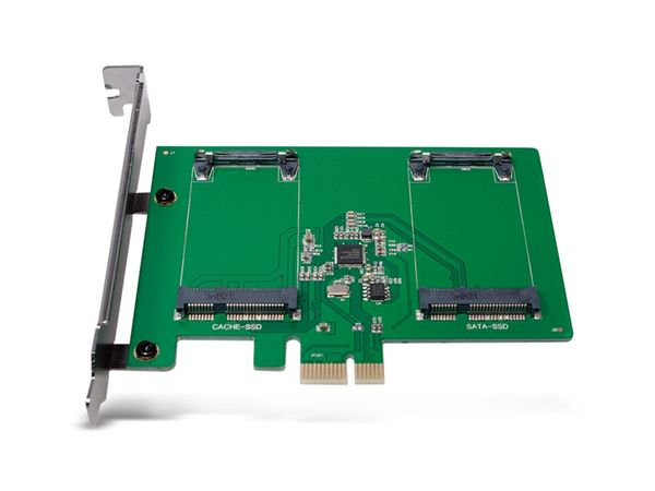 SATA-Controllerkarte LOGILINK PC0078, PCIe, 2x mSATA SDD - Produktbild 3