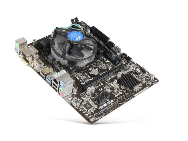 Mainboard-Bundle ASROCK H81M-HDS, Intel G3420, 4 GB