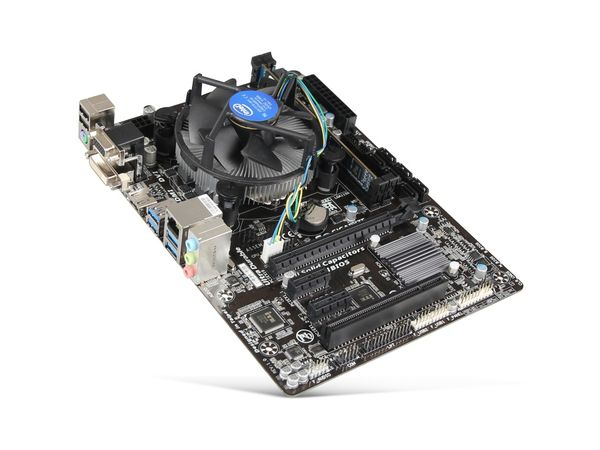 Mainboard-Bundle GIGABYTE GA-H97M-HD3, Intel i5-4590, 4 GB