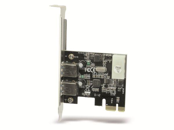 USB 3.0 PCIe-Karte RED4POWER R4-E001, 2-port - Produktbild 1
