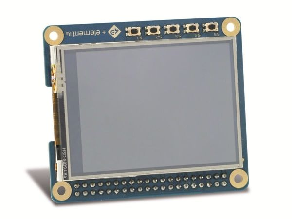 "2,4"" (6,09 cm) TFT-Display mit Touchscreen 4D SYSTEMS 4DPI-24-HAT - Produktbild 1"