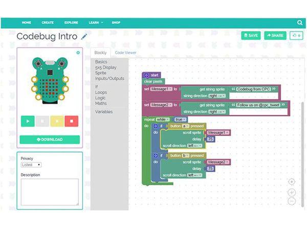 Tragbare Computer-Code-Lernhilfe CODEBUG - Produktbild 4