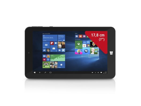 "Tablet-PC TREKSTOR SurfTab wintron 7.0, 7"", Win10, 16 GB, Intel Quad-Core"