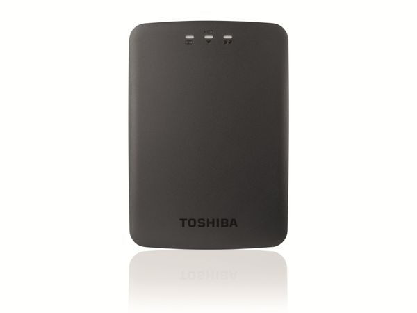 USB 3.0 HDD TOSHIBA Canvio AeroCast HDTU110EKWC1, WLAN, 1 TB, schwarz - Produktbild 1