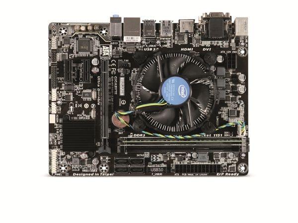 Mainboard-Bundle GIGABYTE GA-H110M-S2H, Intel G4400, 4 GB - Produktbild 1