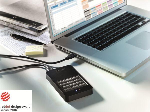 USB 3.0 HDD INTENSO Memory Safe, AES, 1 TB, schwarz - Produktbild 3