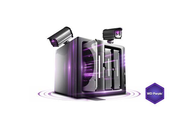 """HDD WESTERN DIGITAL WD80PURX Purple, 3,5"""", 5400 RPM, SATA III, 8 TB - Produktbild 2"""