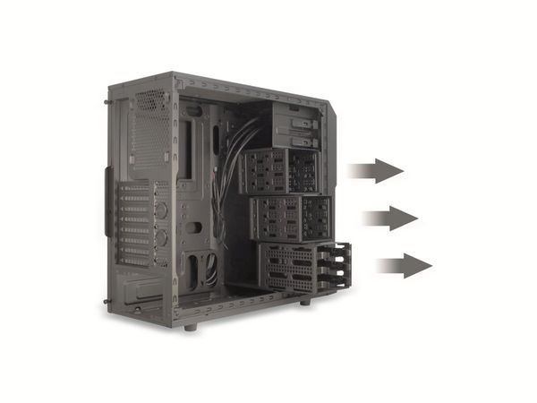 PC-Gehäuse INTER-TECH EM-01, Midi - Produktbild 14
