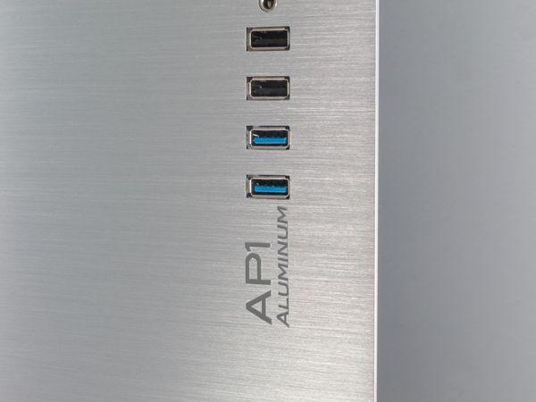PC-Gehäuse INTER-TECH AP-1, Midi Aluminium - Produktbild 9