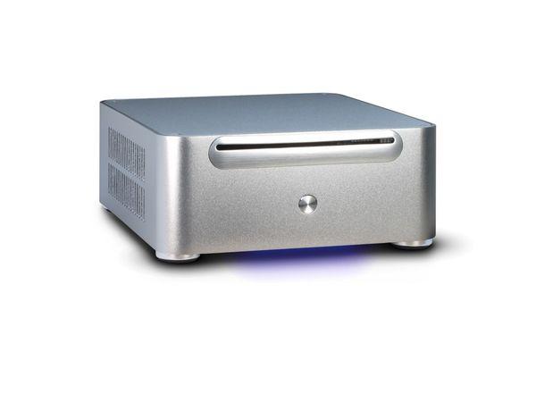 PC-Gehäuse INTER-TECH ITX E-W80S silber, Mini ITX - Produktbild 1