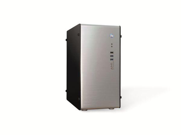 PC-Gehäuse INTER-TECH AM-1, Micro Aluminium - Produktbild 1