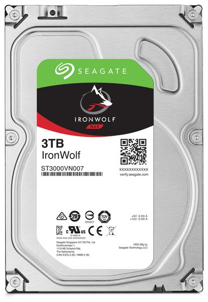 "SATA-HDD SEAGATE Ironwolf ST3000VN007, 3,5"", 3TB, 5900RPM, 64MB"