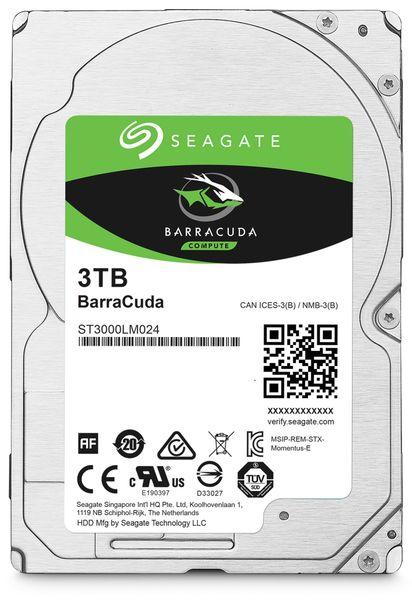 "SATA-HDD SEAGATE Barracuda ST3000LM024, 2,5"", 3TB, 5400RPM, 128MB"