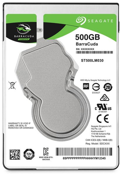 "SATA-HDD SEAGATE Barracuda ST500LM030, 2,5"", 500GB, 5400RPM, 128MB"