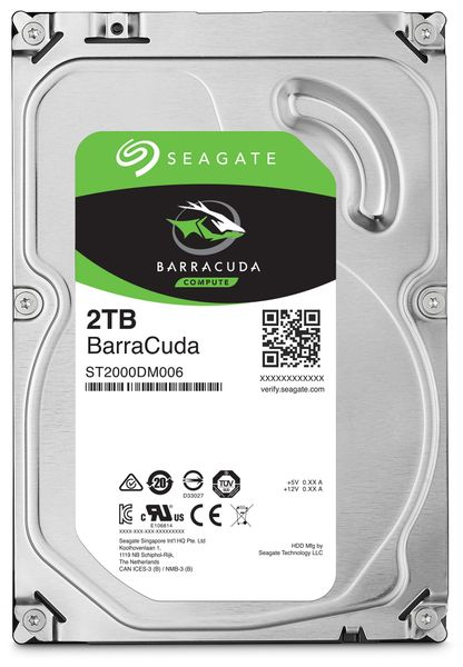 "SATA-HDD SEAGATE Barracuda ST2000DM006, 3,5"", 2TB, 7200RPM, 64MB"
