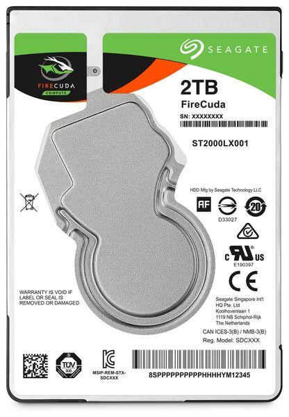 """SATA-HDD SEAGATE Firecuda ST2000LX001, 2,5"""", 2TB, 5400RPM, 128MB"""