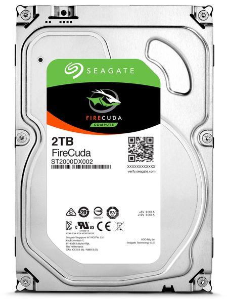 """SATA-HDD SEAGATE Firecuda ST2000DX002, 3,5"""", 2TB, 7200RPM, 64MB"""
