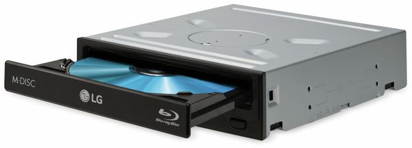 Blu-ray Kombi-Laufwerk LG CH12NS40, SATA, Retail, schwarz - Produktbild 1