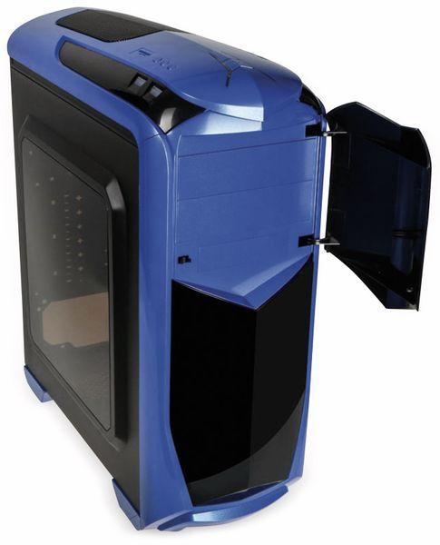 PC-Gehäuse KOLINK Aviator, Midi-Tower, schwarz/blau - Produktbild 2