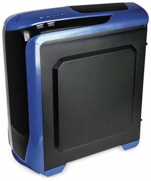 PC-Gehäuse KOLINK Aviator, Midi-Tower, schwarz/blau - Produktbild 3