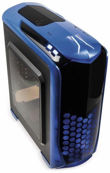 PC-Gehäuse KOLINK Aviator, Midi-Tower, schwarz/blau - Produktbild 4