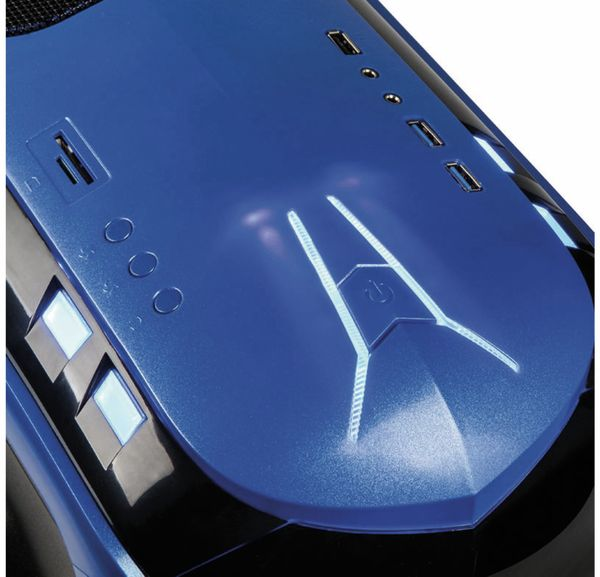 PC-Gehäuse KOLINK Aviator, Midi-Tower, schwarz/blau - Produktbild 5