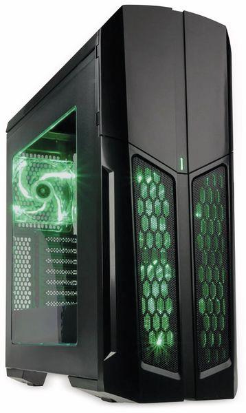 PC-Gehäuse KOLINK Vault, Midi-Tower, schwarz/grün - Produktbild 1