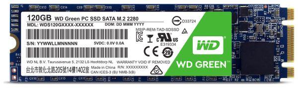 SSD WESTERN DIGITAL Green WDS120G2G0B, M.2 2280, 120 GB