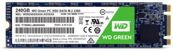 SSD WESTERN DIGITAL Green WDS240G1G0B, M.2 2280, 240 GB