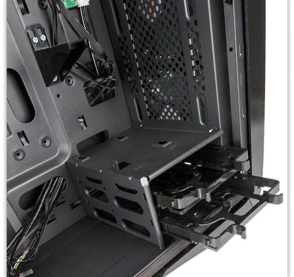 PC-Gehäuse KOLINK Punisher RGB, Midi-Tower, schwarz - Produktbild 2