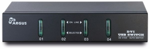 KVM Switch KVM-AS-41DA, 4-port, B-Ware - Produktbild 1