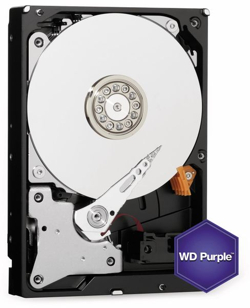"Festplatte WESTERN DIGITAL WD40PURZ, 3,5"", 4 TB, Videoüberwachung"
