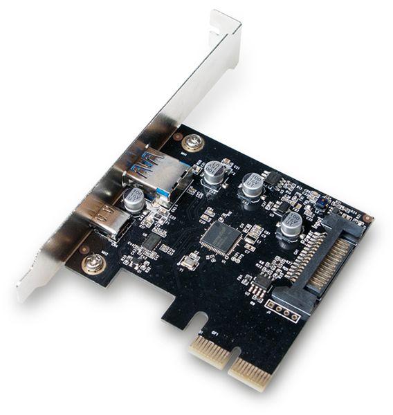 USB 3.1 PCIe-Karte LogiLink PC0081, 2-Port Typ A u. Typ C - Produktbild 2
