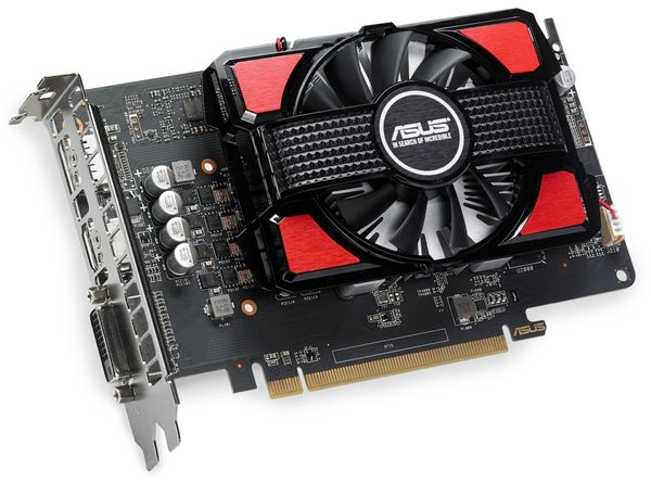 Grafikkarte ASUS RX550, 4 GB DDR5, HDMI, DisplayPort, DVI
