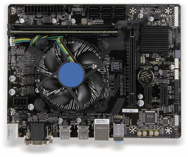Mainboard-Bundle GIGABYTE B250M-D2V, LGA1151, Intel i5-7400, 8 GB DDR4 - Produktbild 1