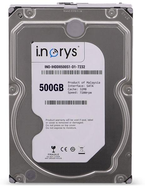 """SATA-HDD I.NORYS IHD500S1-D1-7232, 3,5"""", 500 GB, 7200 U/min"""