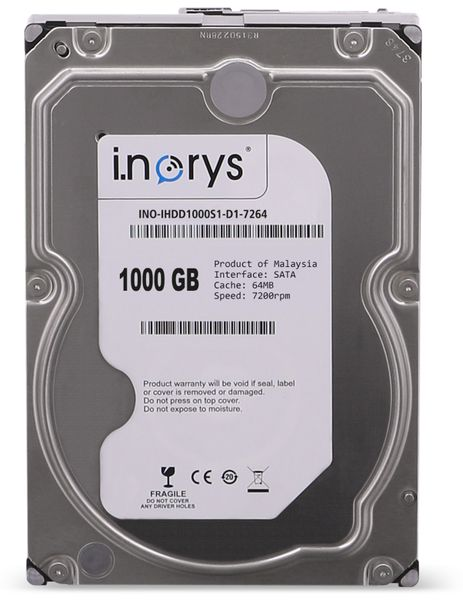 """SATA-HDD I.NORYS IHDD1000S1-D1-7264, 3,5"""", 1 TB, 7200 U/min"""