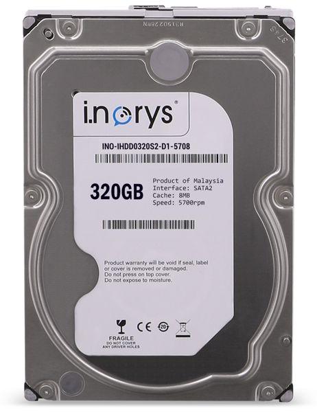 """SATA-HDD I.NORYS IHDD0320S2-D1-5708, 3,5"""", 320 GB, 5700 U/min"""