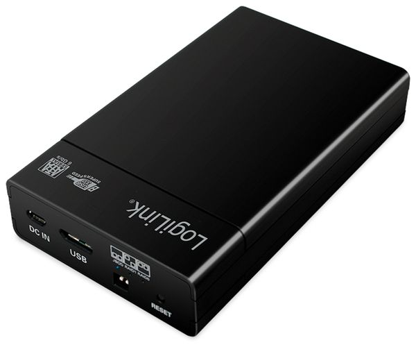 """USB 3.0 Festplattengehäuse LOGILINK UA0285, 2x 2,5"""", Raid - Produktbild 1"""