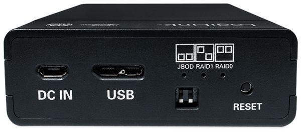 """USB 3.0 Festplattengehäuse LOGILINK UA0285, 2x 2,5"""", Raid - Produktbild 5"""